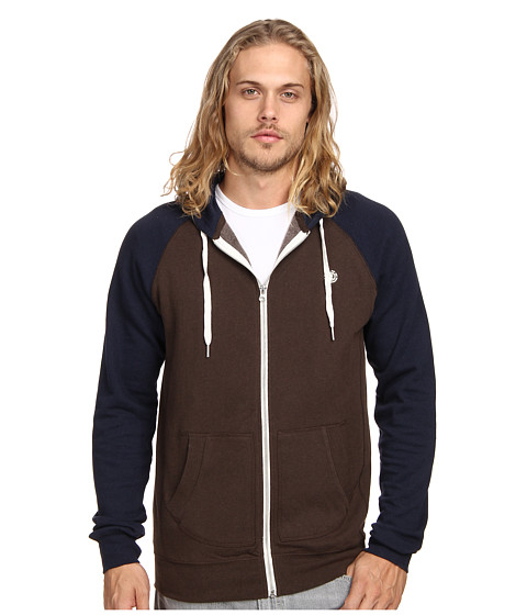 Element - Vermont Zip Hoodie (Navy) Men's Sweatshirt