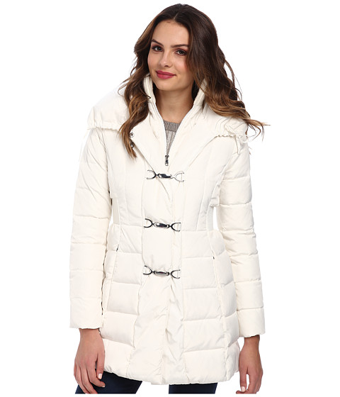 Jessica Simpson - Down with Fireman Toggle Closure (Ivory) Women's Coat