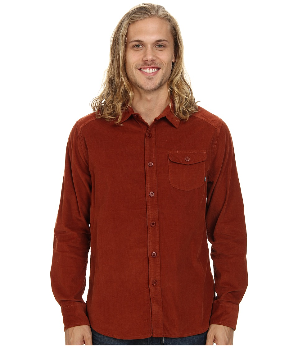 Element - Rancher L/S Woven (Russet) Men's Clothing