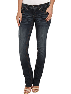 SALE! $24.99 - Save $43 on Request Dark Blue Straight Leg Jean w Emb Square Stud Detailed Back Pockets in Exile (Exile) Apparel - 63.25% OFF $68.00