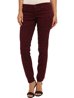 SALE! $14.99 - Save $47 on Request Leopard Print Skinny Jean in Burgundy (Burgundy) Apparel - 75.82% OFF $62.00