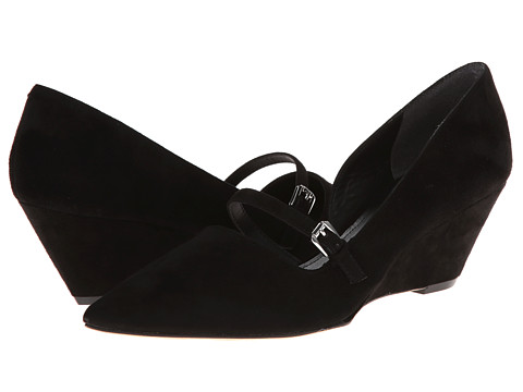 Belle by Sigerson Morrison - Wadd (Black Suede) Women's Wedge Shoes