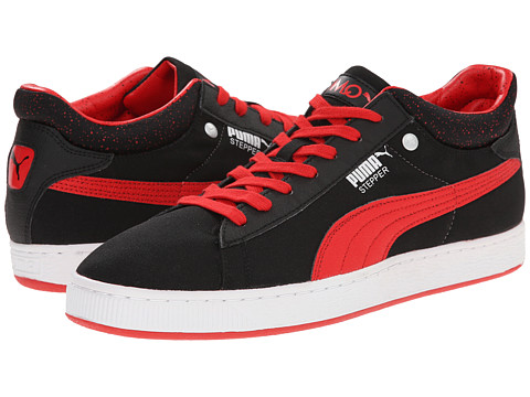 PUMA - Stepper Classic Hyper 90's (Black/High Risk Red/White) Men's Lace Up Cap Toe Shoes