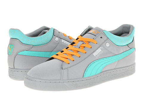 PUMA - Stepper Classic Hyper 90's (Limestone Gray/Electric Green/White) Men's Lace Up Cap Toe Shoes