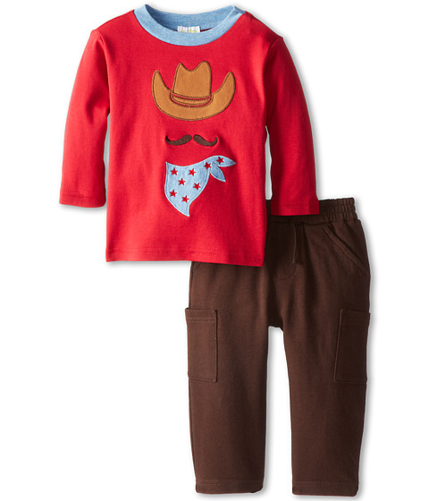 le top - Saddle Up Shirt Cowboy Espresso French Terry Pant (Infant/Toddler) (Garnet) Boy