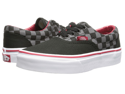 Vans Kids - Era (Little Kid/Big Kid) ((Checkerboard) Black/Pewter/Chili Pepper) Boys Shoes