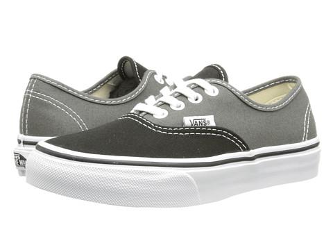 Vans Kids - Authentic (Little Kid/Big Kid) ((2-Tone) Black/Charcoal) Boys Shoes