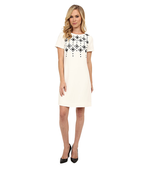Tahari by ASL Petite - Petite Lianna Dress (Ivory White/Black) Women