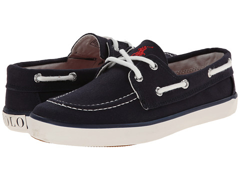 Polo Ralph Lauren Kids - Sander (Big Kid) (Navy Canvas With Red Pony Player) Kid's Shoes
