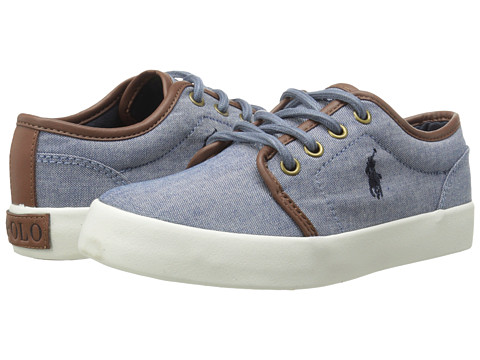 Polo Ralph Lauren Kids - Ethan Low (Little Kid) (Blue Chambray) Boys Shoes