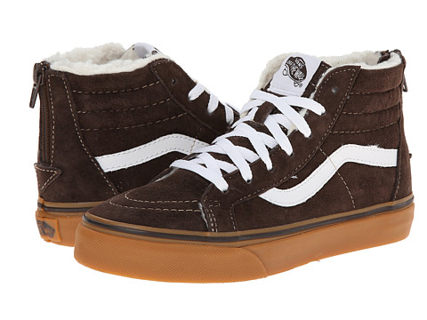 Vans Kids - Sk8-Hi Zip (Little Kid/Big Kid) ((MTE) Suede/Brown) Boys Shoes