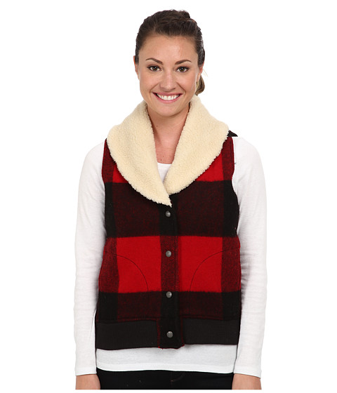 Woolrich - Giant Buffalo Wool Vest (Red Plaid) Women