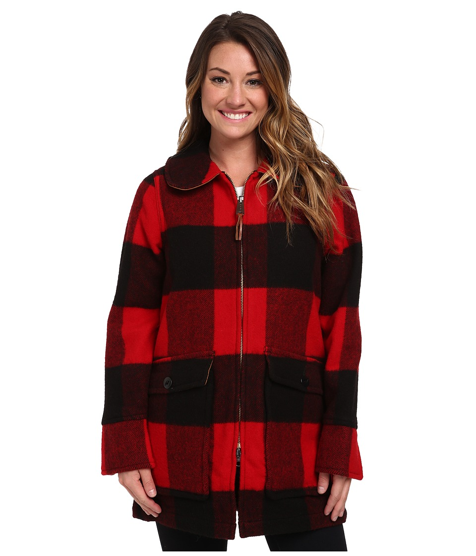 Woolrich - Giant Buffalo Coat (Red Plaid) Women's Coat