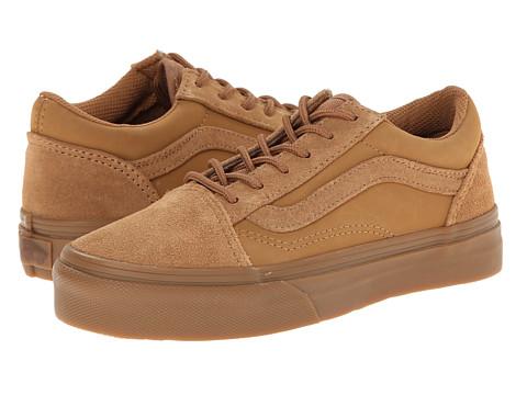 Vans Kids - Old Skool (Little Kid/Big Kid) ((Suede/Buck) Tobacco Brown) Boys Shoes