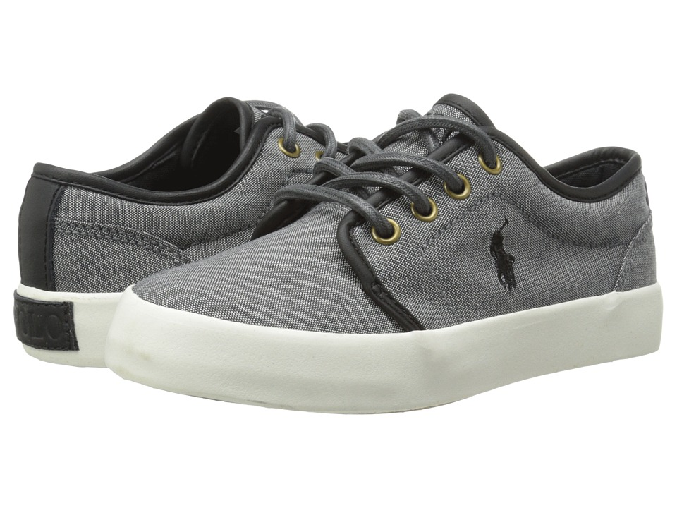 Polo Ralph Lauren Kids - Ethan Low (Little Kid) (Dark Grey Chambray) Boys Shoes