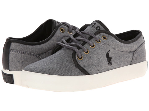 Polo Ralph Lauren Kids - Ethan Low (Big Kid) (Dark Grey Chambray) Boy