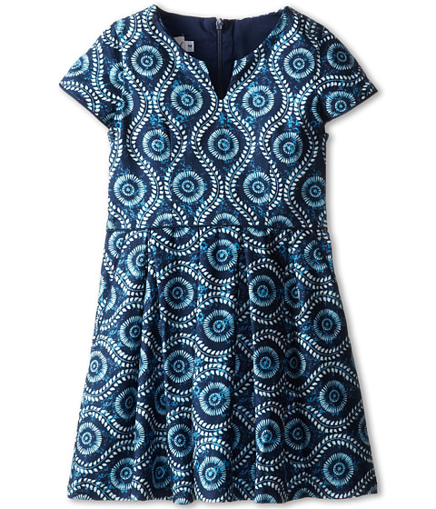 fiveloaves twofish - Eye of the Peacock Dress (Little Kids/Big Kids) (Navy) Girl's Dress