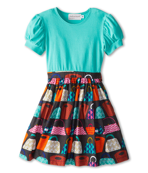 fiveloaves twofish - Grab that Bag Dress (Little Kids/Big Kids) (Mint) Girl's Dress