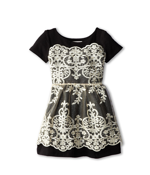 fiveloaves twofish - Oh Champs Elysees Dress (Little Kids/Big Kids) (Black) Girl