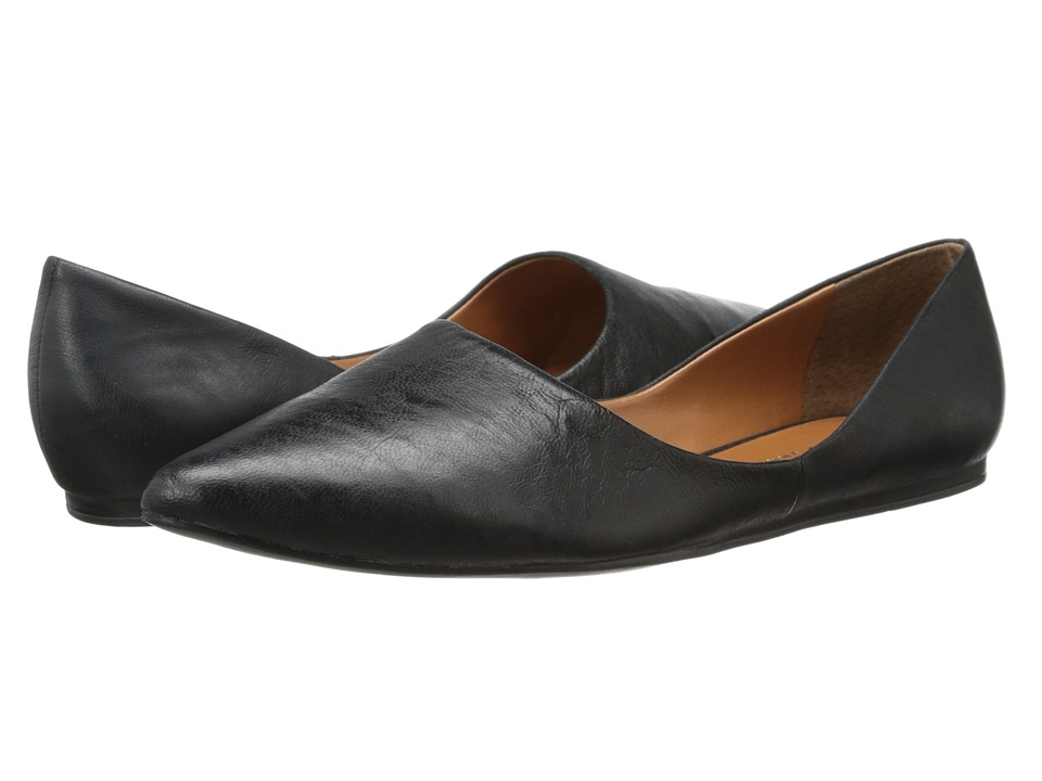 Franco Sarto - Heath (Black Leather) Women's Slip on Shoes