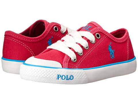 Polo Ralph Lauren Kids - Carlisle (Toddler) (Ultra Pink Canvas/Caribbean Blue) Girl