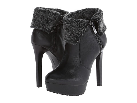 BCBGeneration - Willow 2 (Black Soft Tumbled Shearling) High Heels