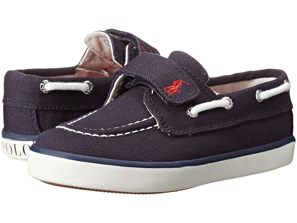 Polo Ralph Lauren Kids - Sander EZ (Toddler) (Navy Canvas With Red Pony Player) Kid's Shoes