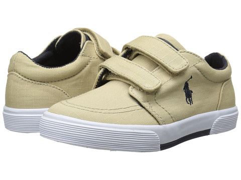 Polo Ralph Lauren Kids - Faxon II EZ (Toddler) (Khaki Ripstop Canvas/Navy) Boys Shoes