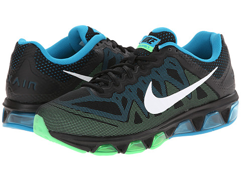 Nike - Air Max Tailwind 7 (Black/Blue Lagoon/Poison Green/White) Men