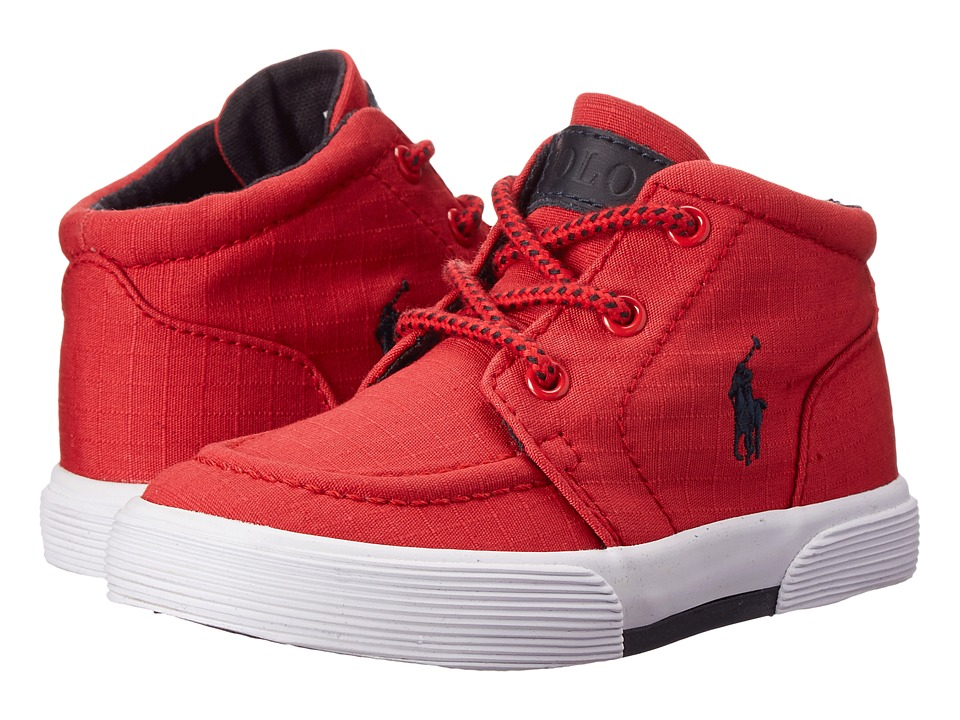 Polo Ralph Lauren Kids - Faxon II Mid (Toddler) (Red Ripstop Canvas/Navy) Boy's Shoes