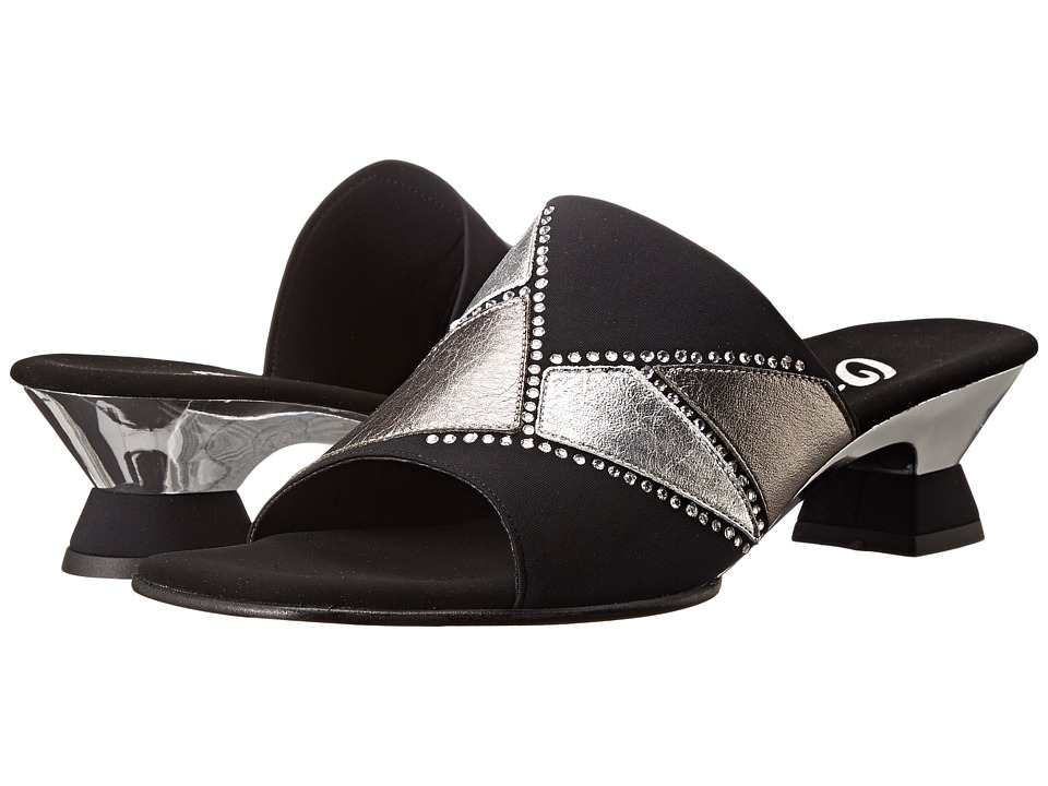 Onex - Mozaic (Black/Silver/Pewter) Women's Dress Sandals