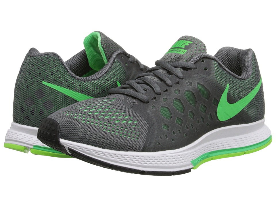 Nike - Zoom Pegasus 31 (Dark Grey/Flash Lime/White/Poison Green) Men's Running Shoes