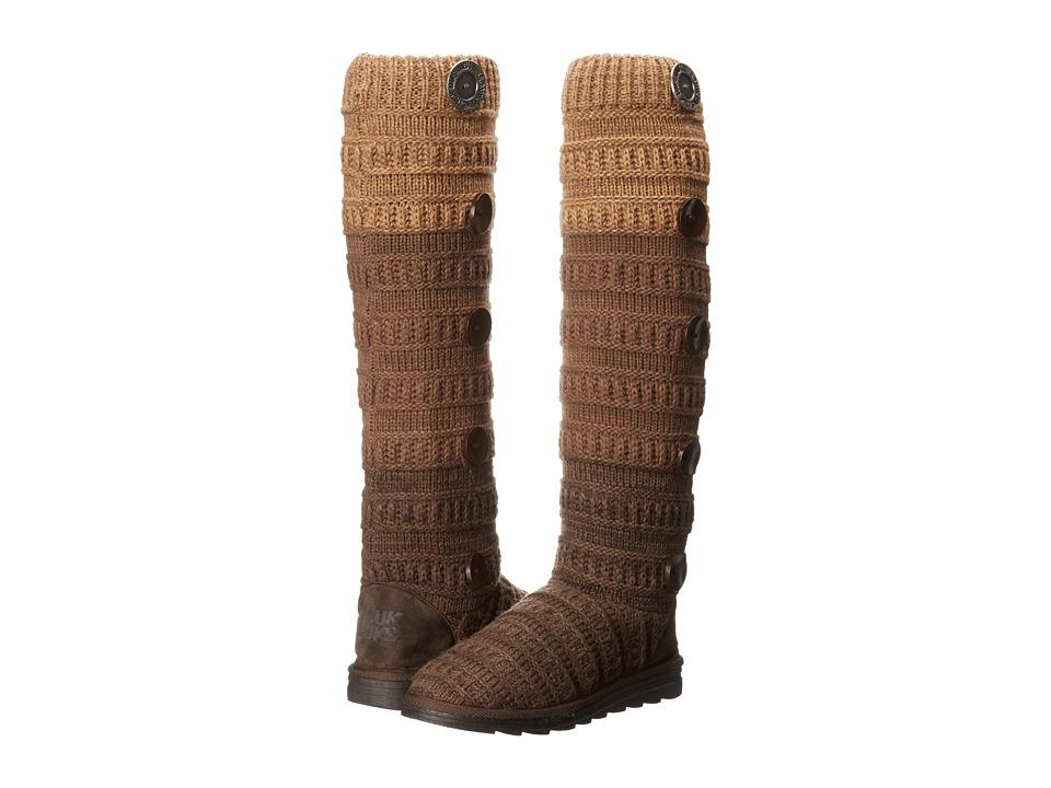 MUK LUKS Miranda Sweater Boot (Brown Ombre) Women