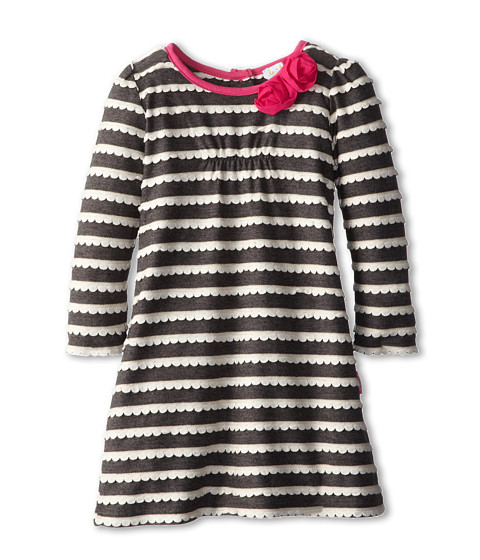 le top - La Belle Scalloped A-Line Dress Rose (Toddler/Little Kids) (Slate) Girl's Dress
