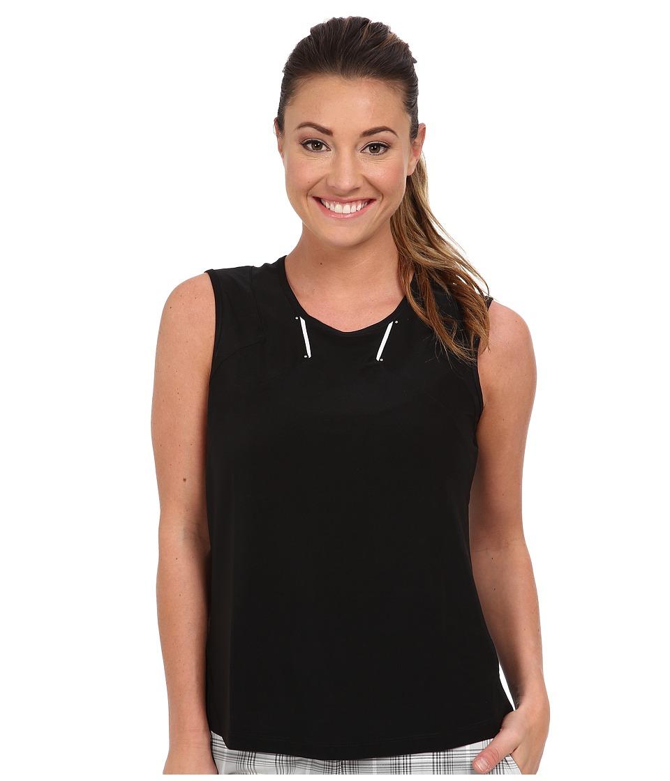 DKNY Golf - Brenda Sleeveless Tank (Jet Black) Women's Sleeveless