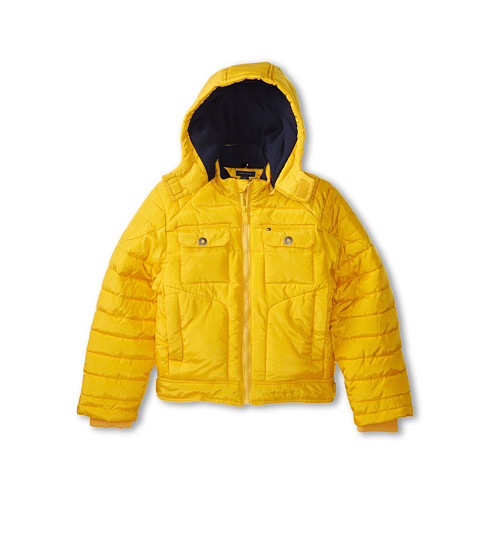 Tommy Hilfiger Kids - Gabriel Puffer Jacket (Little Kid/Big Kid) (Old Gold) Boy's Coat