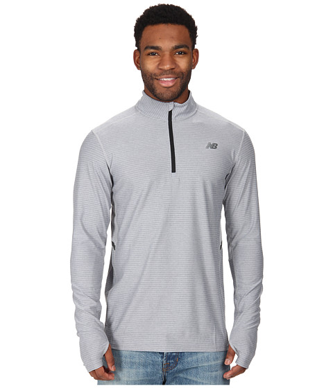 New Balance - Shift L/S 1/4 Zip (Athletic Grey) Men's Jacket