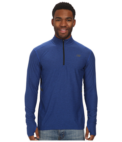 New Balance - Shift L/S 1/4 Zip (Optic Blue Heather) Men's Jacket