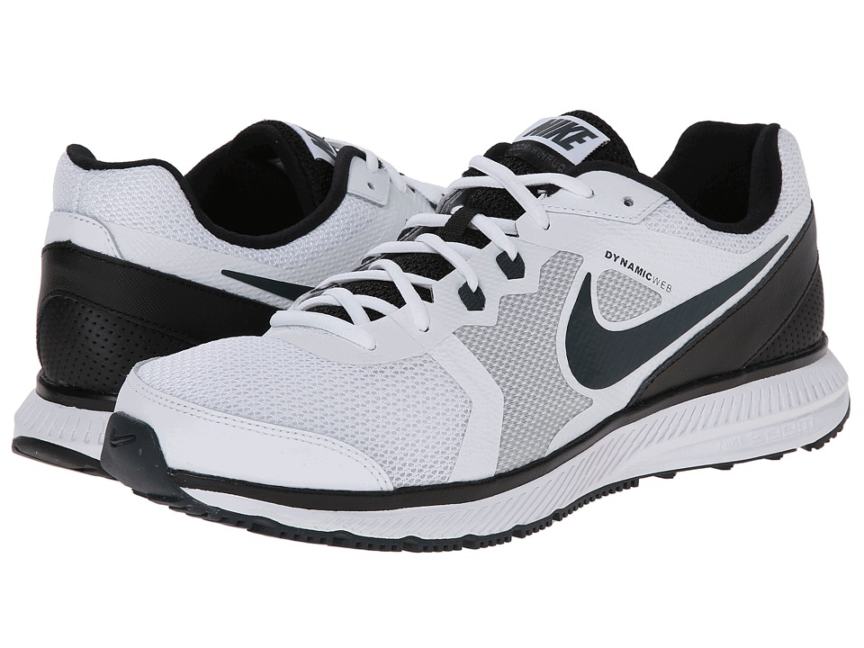 Nike - Zoom Winflo (White/Black/Classic Charcoal) Men's Running Shoes
