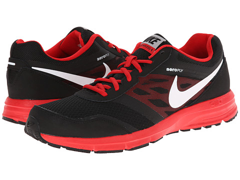 Nike - Air Relentless 4 (Black/University Red/Metallic Silver/White) Men's Running Shoes