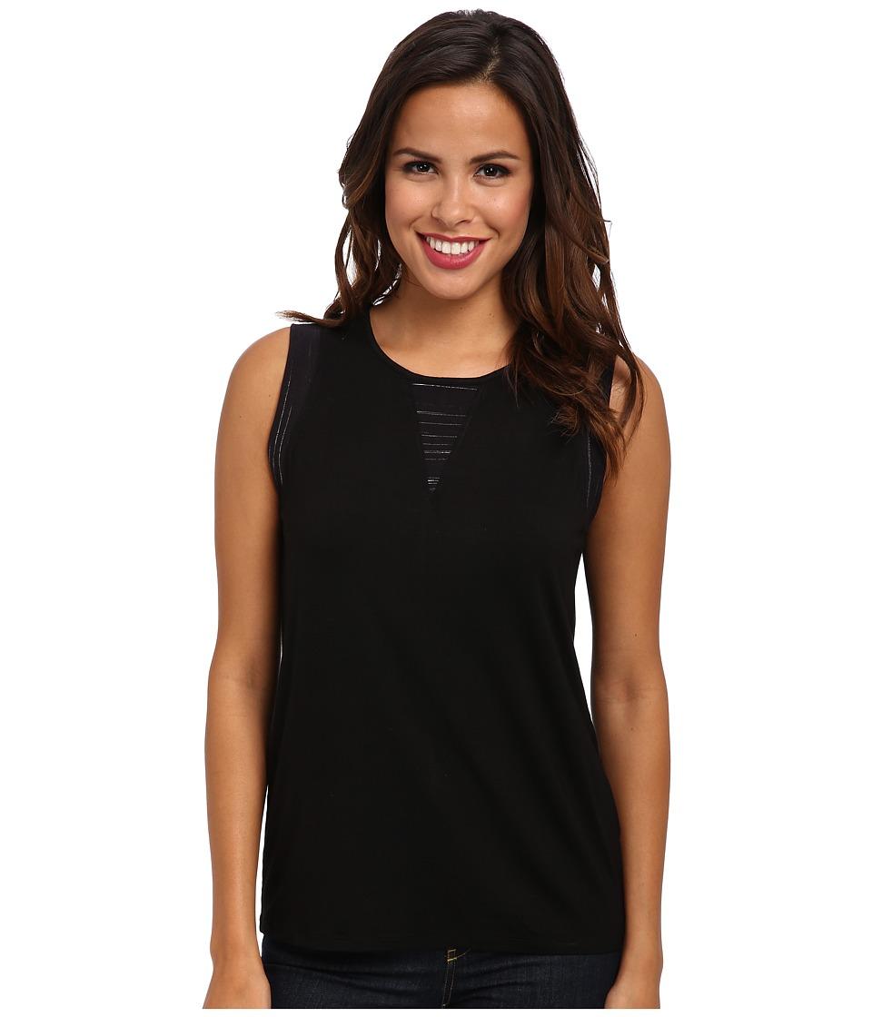Calvin Klein Jeans - Knit Mix Shift Top (Black) Women's Sleeveless