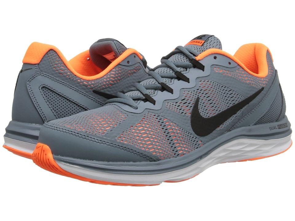 Nike - Dual Fusion Run 3 (Blue Graphite/Total Orange/White/Black) Men