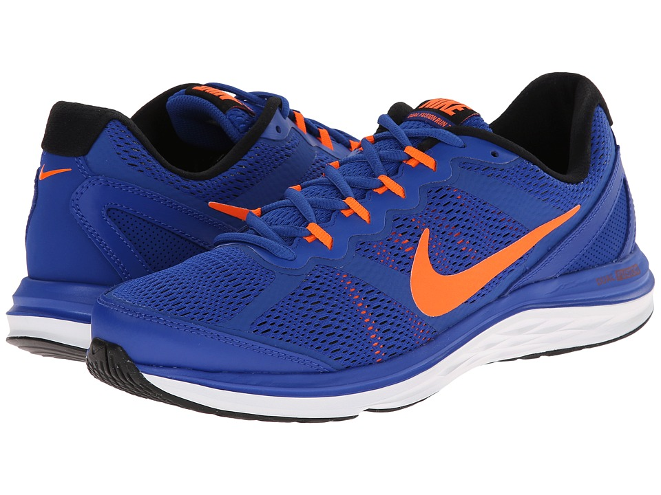 Nike - Dual Fusion Run 3 (Lyon Blue/Black/White/Total Orange) Men