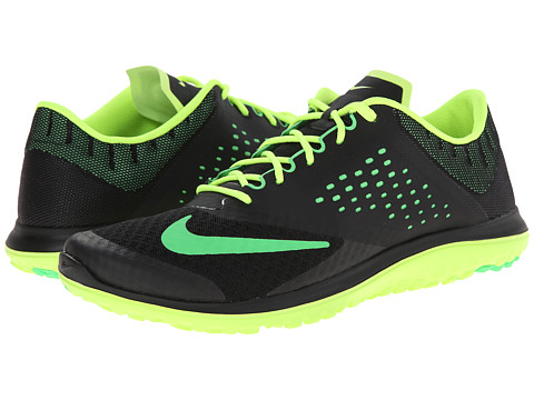 Nike - FS Lite Run 2 (Black/Volt/Poison Green) Men