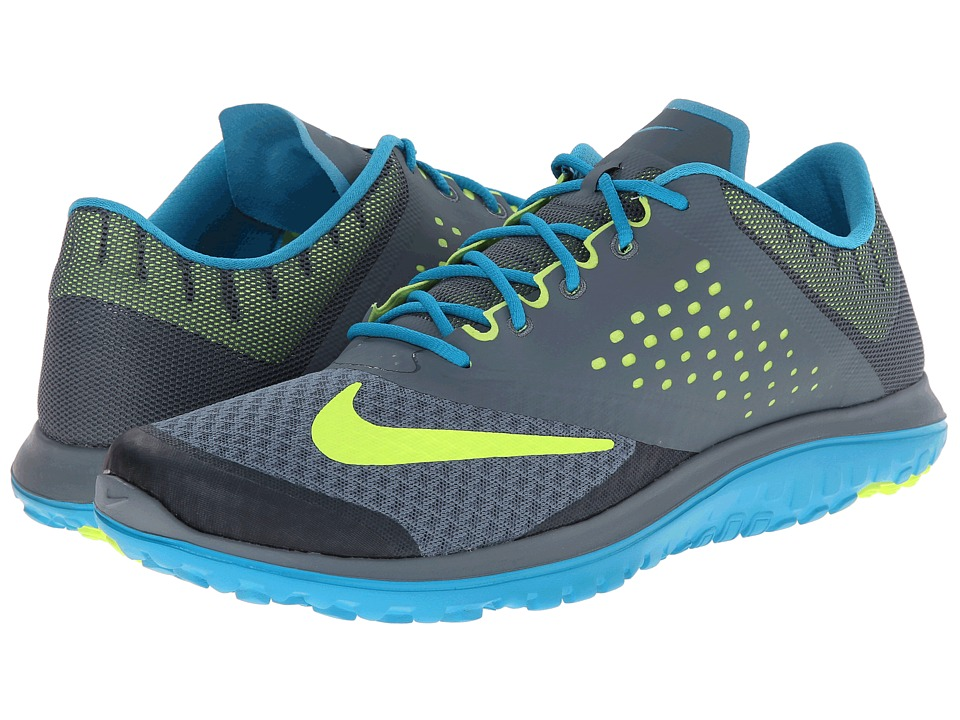 Nike - FS Lite Run 2 (Blue Graphite/Blue Lagoon/Volt) Men's Running Shoes