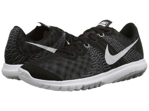 Nike - Flex Fury (Black/White) Men's Running Shoes