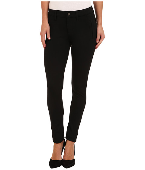 Calvin Klein Jeans - Welt Pocket Ponte Pant w/ Back Zip (Black) Women's Casual Pants