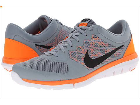 Nike - Flex 2015 RUN (Dove Grey/Total Orange/White/Black) Men