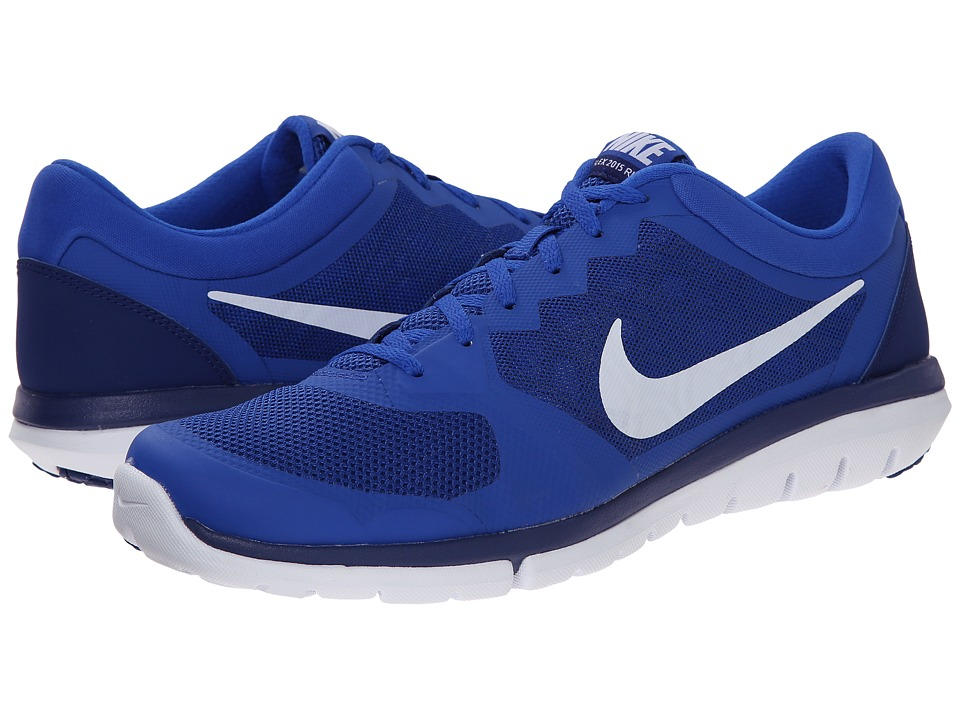 Nike - Flex 2015 RUN (Lyon Blue/Deep Royal Blue/White) Men