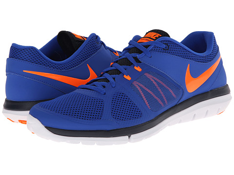 Nike - Flex 2014 Run (Lyon Blue/Dark Obsidian/White/Total Orange) Men's Running Shoes